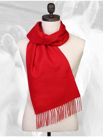 Scarf - 100% Cashmere Solid Red