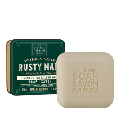 Soap In A Tin Whisky Rusty Nail