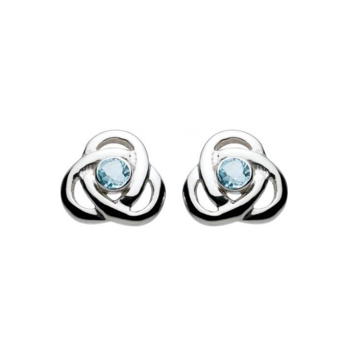 Oona Knot Blue Topaz Stud Earrings
