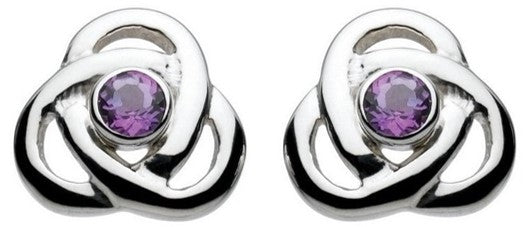 Oona Knot Amethyst Stud Earrings