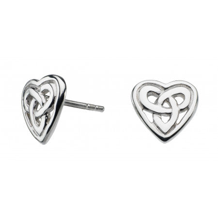 Aamor Celtic Heart Stud Earrings