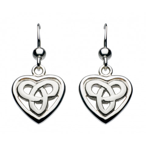 Aamor Celtic Heart Drop Earrings