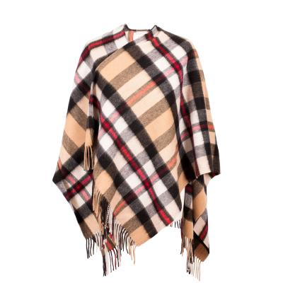Scottish Tartan Brushed Lambswool Cape