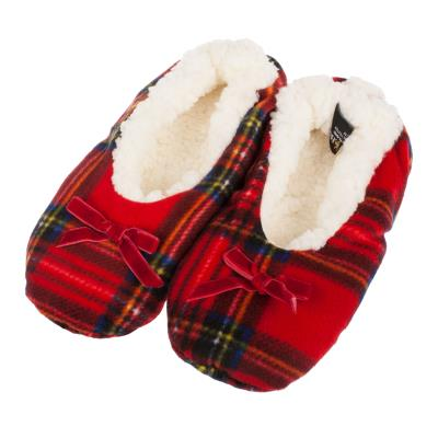 Slippers - Ladies Tartan Fleece