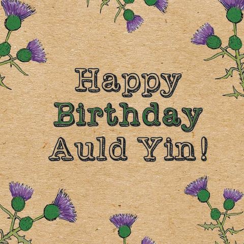 Birthday Card - Auld Yin