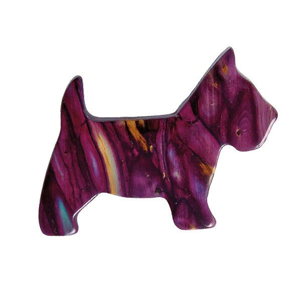 Heathergems Scottie Dog Brooch