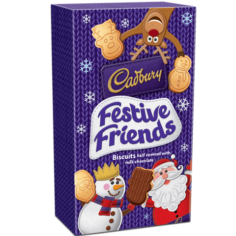 Chocolate - Cadbury Festive Friends Biscuits