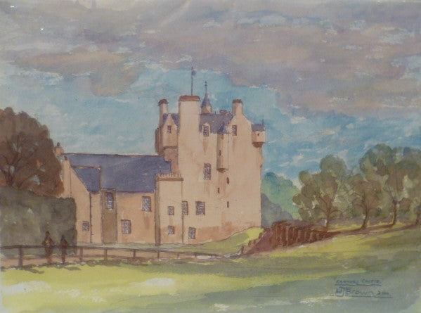 Water Colour Print - Crathies Castle by Bill Brown
