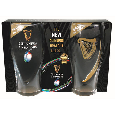 Guinness 2-Pack Pint Glasses 6 Nations