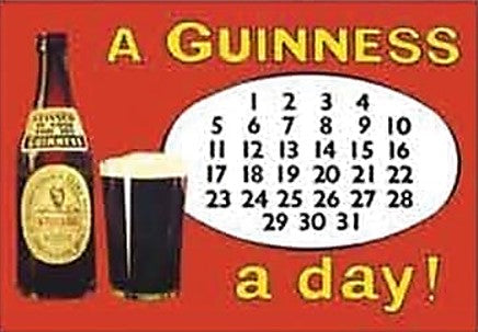 Fridge Magnet - A Guinness A Day!