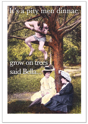 Notecard - Humour - Men On Trees
