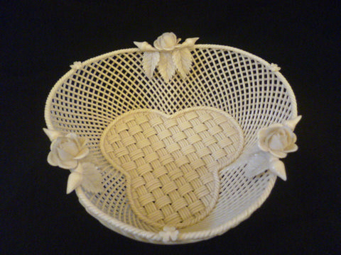 Belleek Basket Weave Dish