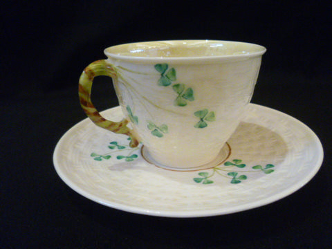 Belleek Tea Cup & Saucer