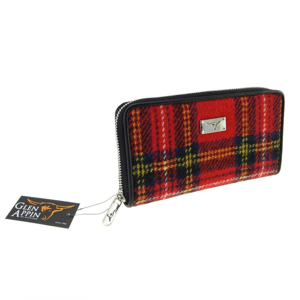 Harris Tweed Zip Wallet - Staffa