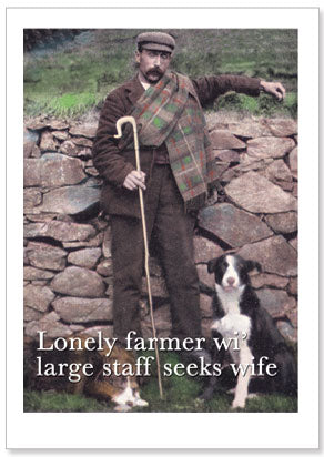 Notecard - Humour - Lonely Farmer