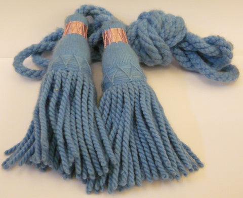 Wool Bagpipe Cords - Light (Ancient) Blue