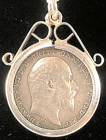 1905 Silver Threepenny Pendant
