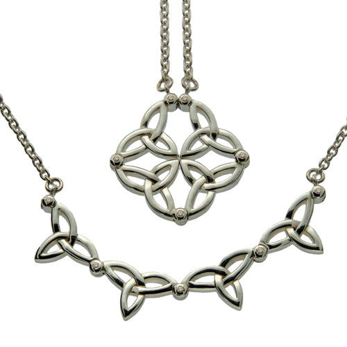 Trinity Knot 2-in-1 Pendant - Diamond