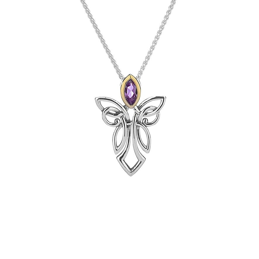 Guardian Angel Pendant Large - Amethyst