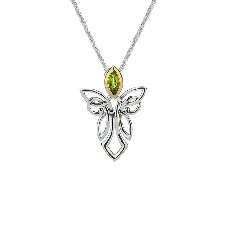 Guardian Angel Pendant Large - Peridot