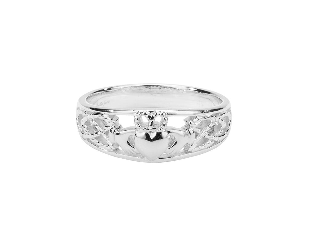 Claddagh Ring - Sterling Silver Band