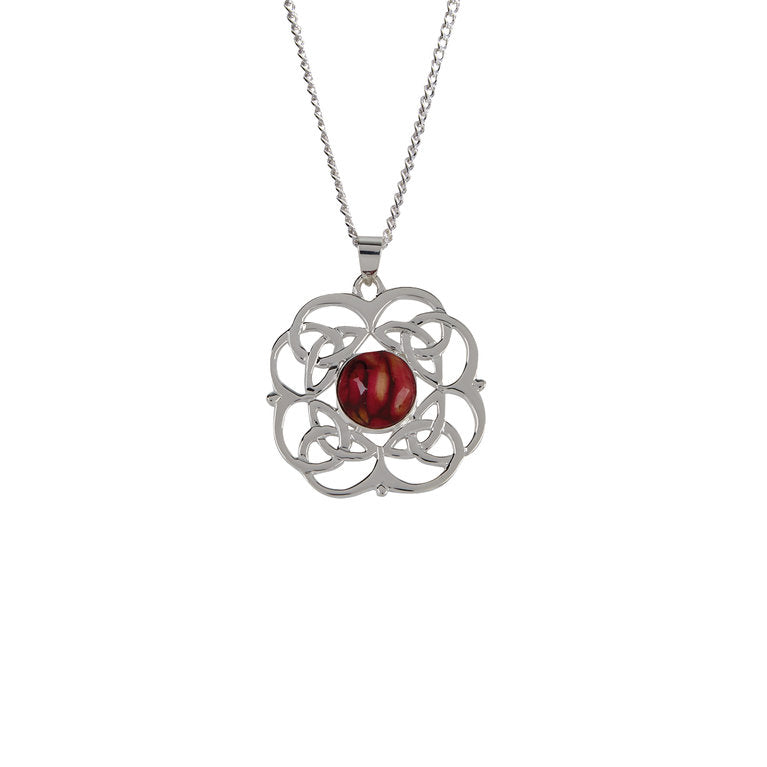 Heathergem Circle Celtic Pendant