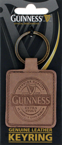Guinness Leather Key Ring
