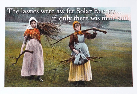 Solar Energy - Humorous Card