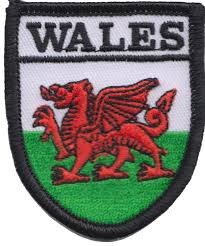 Embroidered Badge - Wales Shield