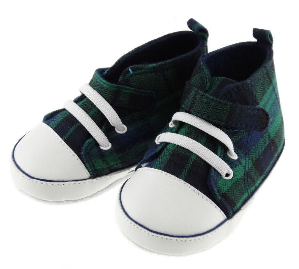 Baby Baseball Tartan Shoes