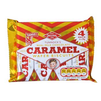 Tunnock's Caramel Wafers 4 Pack