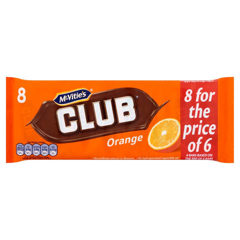 McVitie's Club Orange 8 pack