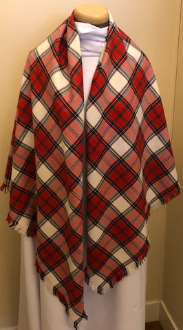 Calgary Dress Tartan Lightweight Wool Shawl