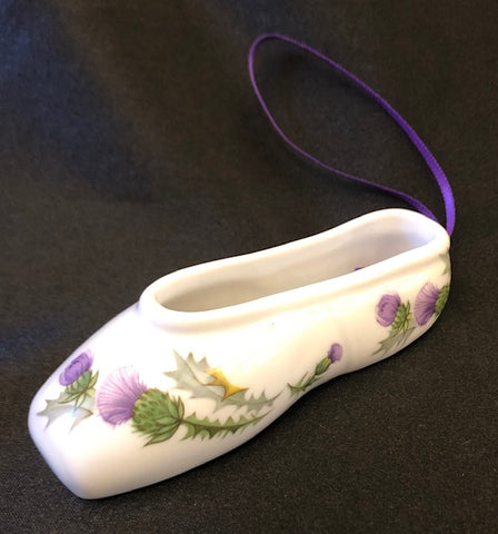 Porcelain Dance Slipper Ornament
