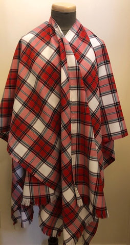Calgary Dress Tartan Lightweight Wool Cape