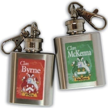 Irish Family Key Chain Mini Flask