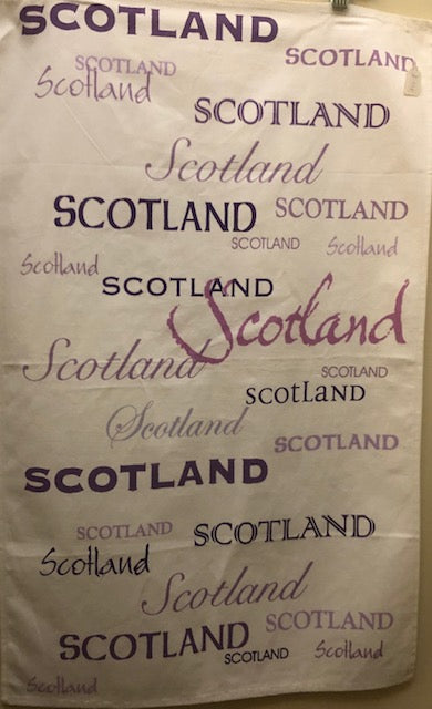 Tea Towel - Scotland Words
