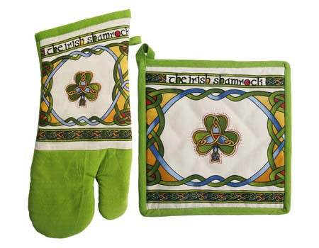 Irish Oven Mitt & Pot Holder Set
