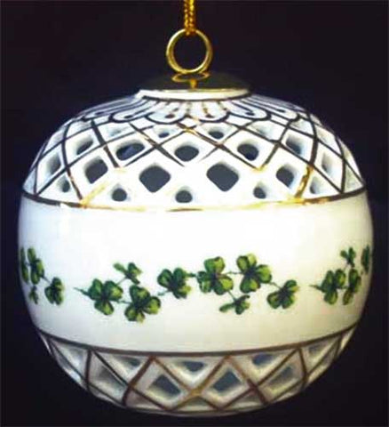 Porcelain Diamond Cut Ornament