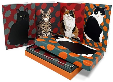 Leslie Gerry Cats Note/Greeting Card Pack