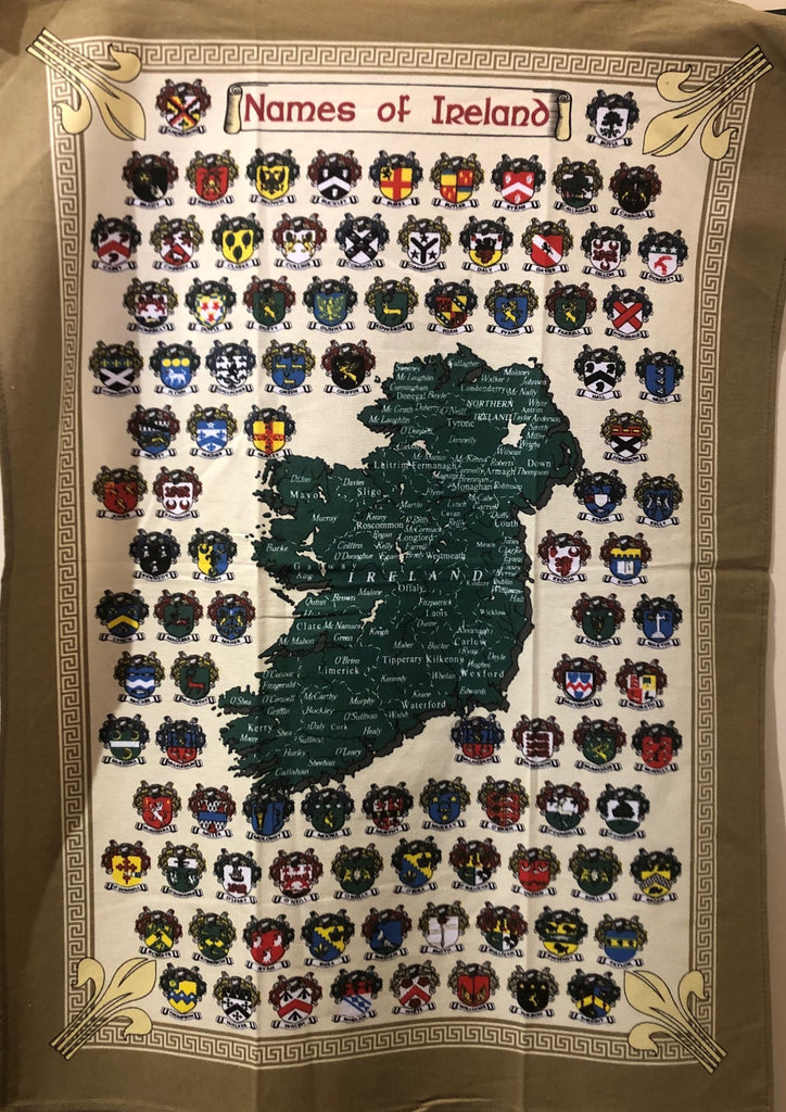 Tea Towel - Names Of Ireland