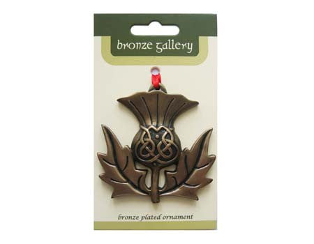 Scottish Thistle Bronzed Ornament