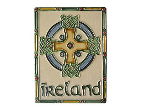 Irish Ceramic Celtic Cross Wall Plaques