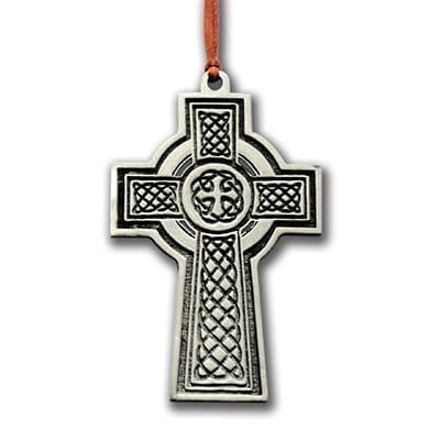 Pewter Celtic Cross Ornament