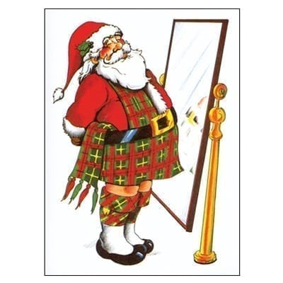Christmas Card Pack - Santa In Kilt