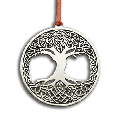 Pewter Tree Of Life Ornament