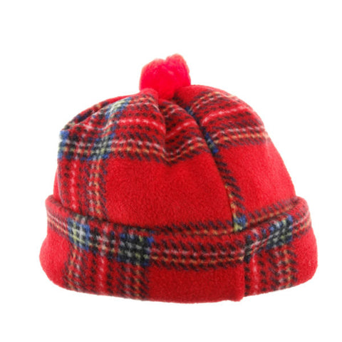Child's Tartan Fleece Hat