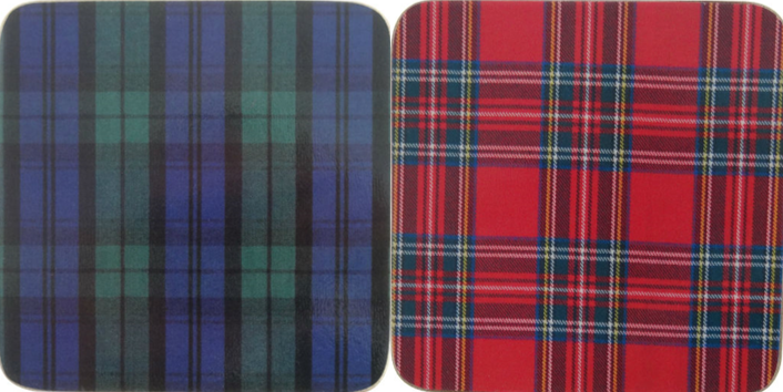 Tartan Coasters Set of 6