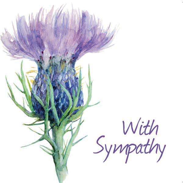 Notecard - Sympathy - Simple Thistle