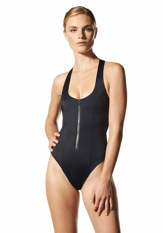 Athena Zipper: The Racerback One Piece